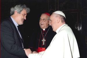 El Papa Francisco recibe a los directores del Servicio Jesuita a Refugiados