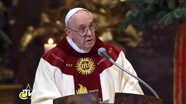 """Papa Francisco: """"El centro de la Compañía de Jesús es Cristo y su Iglesia»"""