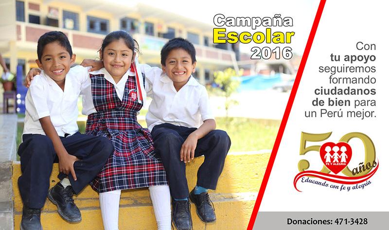 Campaña Escolar Fe y Alegría 2016 por 50º Aniversario