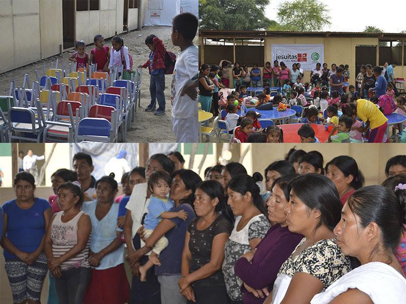 Plataforma Piura entregó mobiliario escolar a colegio de Pedregal Chico