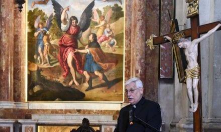 P. General visitó la restaurada Capella dei Tessitori di seta en Venencia