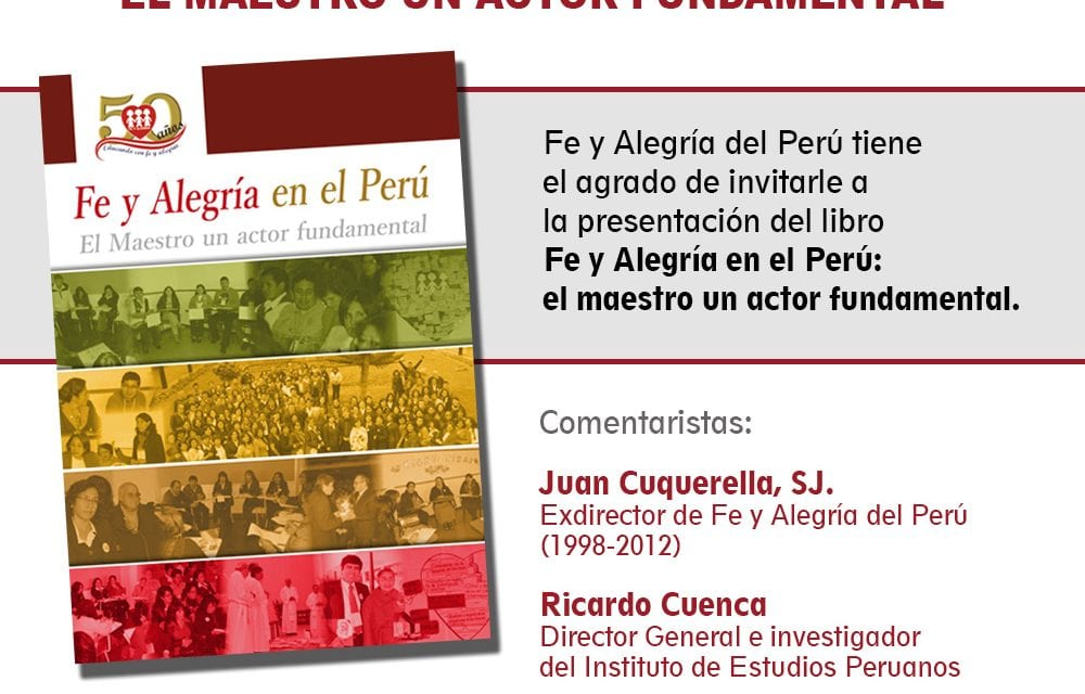 Presentarán libro sobre Fe y Alegría del Perú