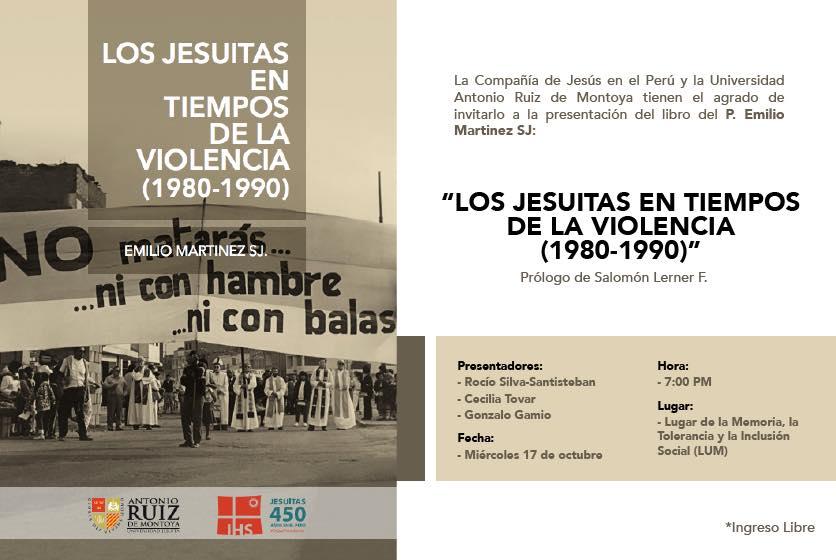Presentación del libro «Los jesuitas en tiempos de la violencia»