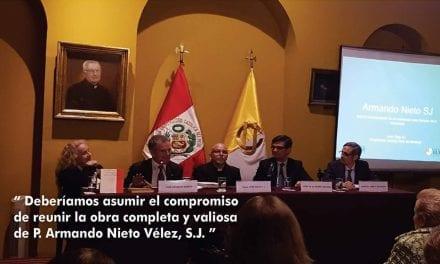 Homenaje al P. Armando Nieto, SJ