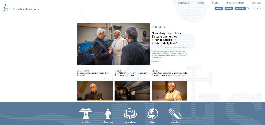 Nueva página web de la Curia Jesuita en Roma