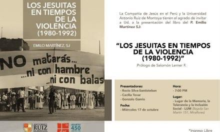 Presentación de libro:  «Los jesuitas en tiempos de la violencia (1980-1992)»