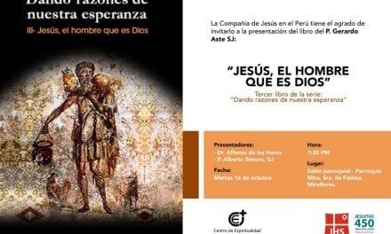 Presentación de libro:  «Jesús, el hombre que es Dios»