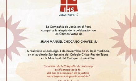 Últimos Votos del P. Juan Manuel Chocano, SJ