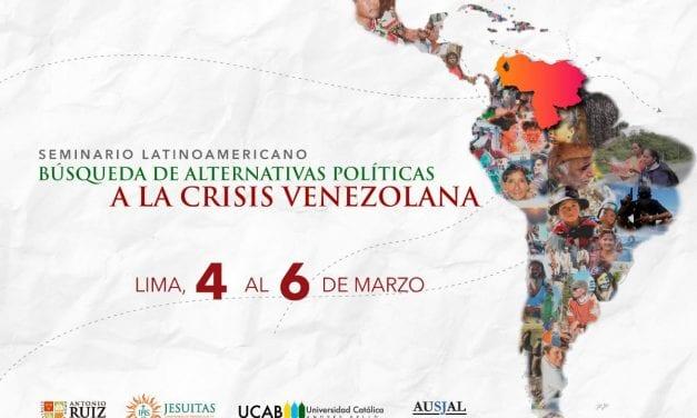Seminario Latinoamericano «Búsqueda de alternativas políticas a la crisis venezolana»