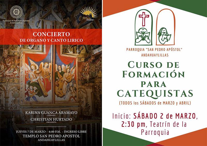 Novedades Parroquia San Pedro Apóstol de Andahuaylillas