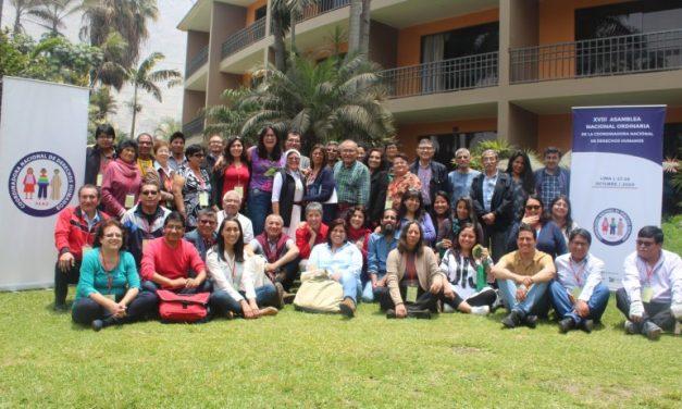 Centro Loyola Ayacucho participó de Asamblea General de la CNDDHH