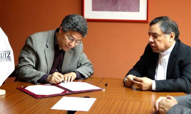 Facultad de Teología Pontificia y Civil de Lima y la Ruiz firman convenio para traslado externo