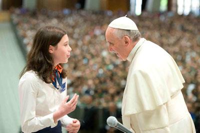 El Papa Francisco dialoga con los alumnos de los colegios jesuitas de Italia y Albania