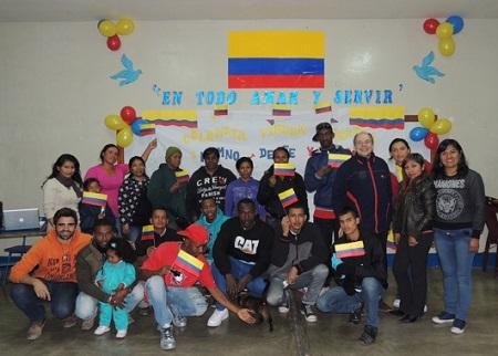 SJM-Tacna celebra día de Colombia con migrantes y refugiados