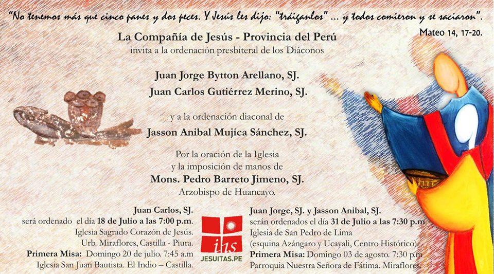 31 de julio: fiesta de San Ignacio y ordenaciones presbiteral y diaconal