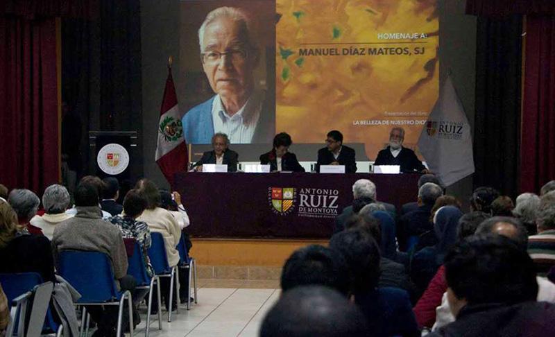Homenaje al P. Manuel Díaz Mateos, SJ