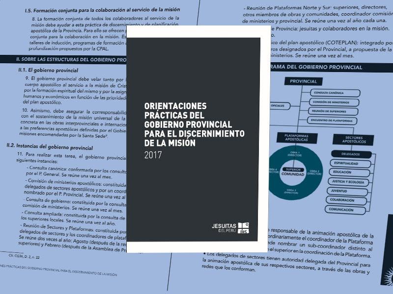 P. Provincial presenta importante documento sobre organización apostólica de la Provincia