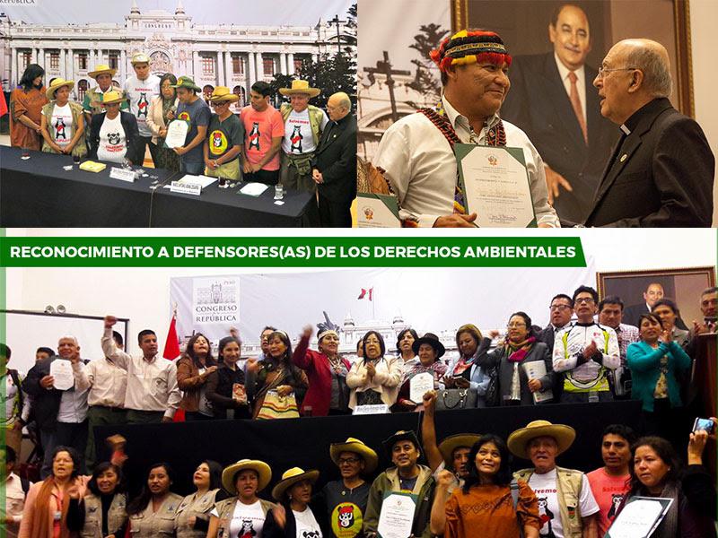 Monseñor Pedro Barreto SJ y Radio Marañon recibieron reconocimiento del Congreso