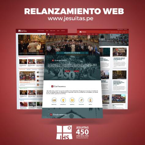 Relanzamiento de página web JESUITAS.PE