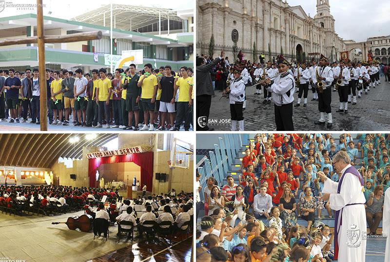 Colegios jesuitas celebraron la Semana Santa 2018