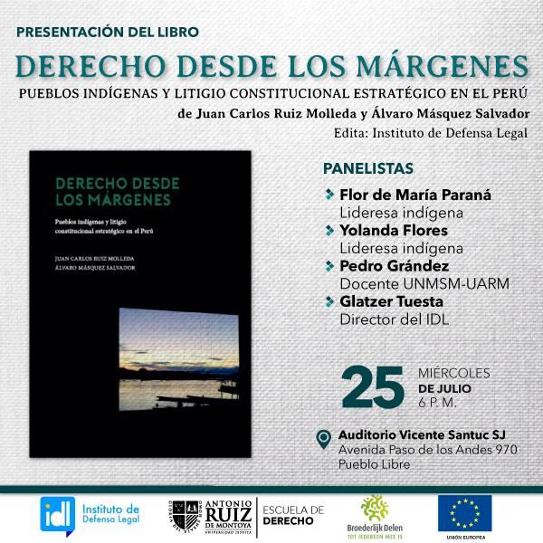 """Presentación de libro: """"Derecho desde los márgenes"""""""