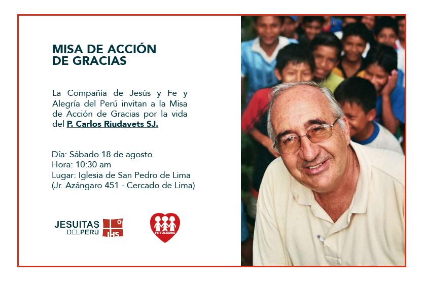 Misa de Acción de Gracias por la vida del P. Carlos Riudavets SJ
