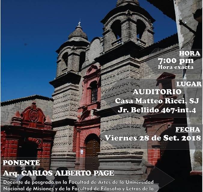 Plataforma Ayacucho organiza conferencia sobre arquitectura jesuita