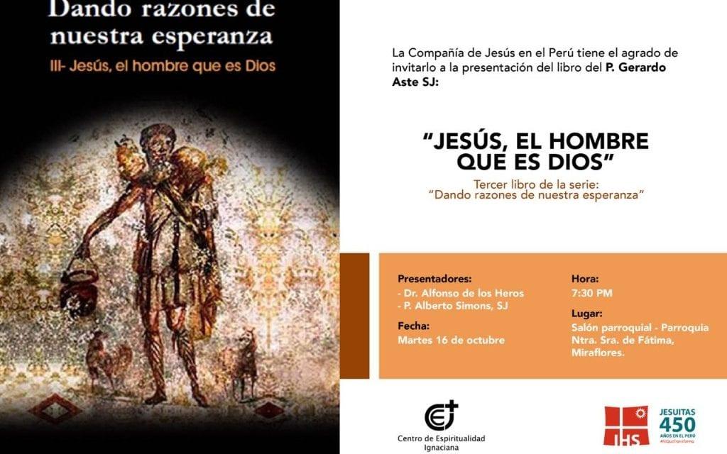 """Presentación de libro:  """"Jesús, el hombre que es Dios"""""""