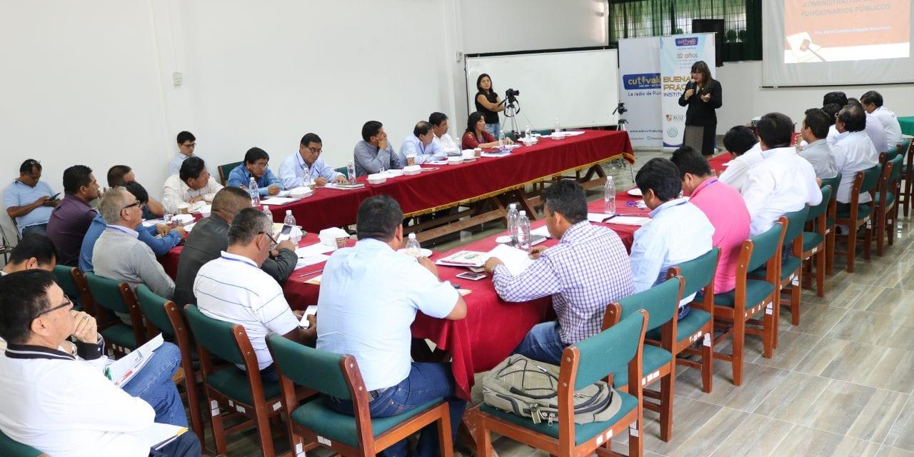 Radio Cutivalú: Más de 30 alcaldes de Piura recibieron charlas para luchar contra la corrupción