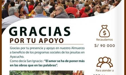 Agradecimiento: XIV Paella Almuerzo Ayacucho