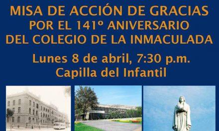 Colegio de la Inmaculada: Eucaristía por aniversario