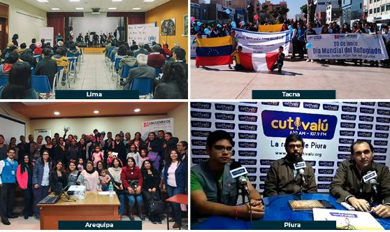 Día Mundial del Refugiado: actividades conmemorativas en Lima, Arequipa, Tacna y Piura
