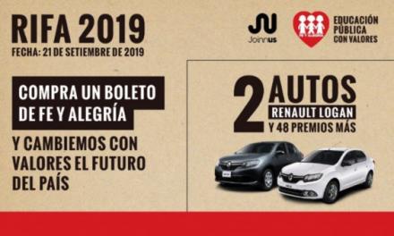 Rifa Fe y Alegría 2019