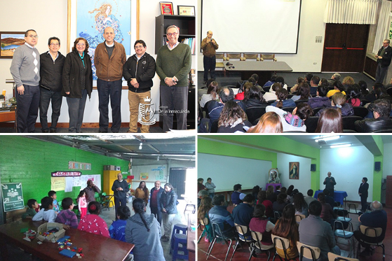 Padre Provincial visitó Colegio de la Inmaculada y PEBAL
