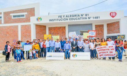 Fe y Alegría N°81 de Paita estrena nuevas instalaciones