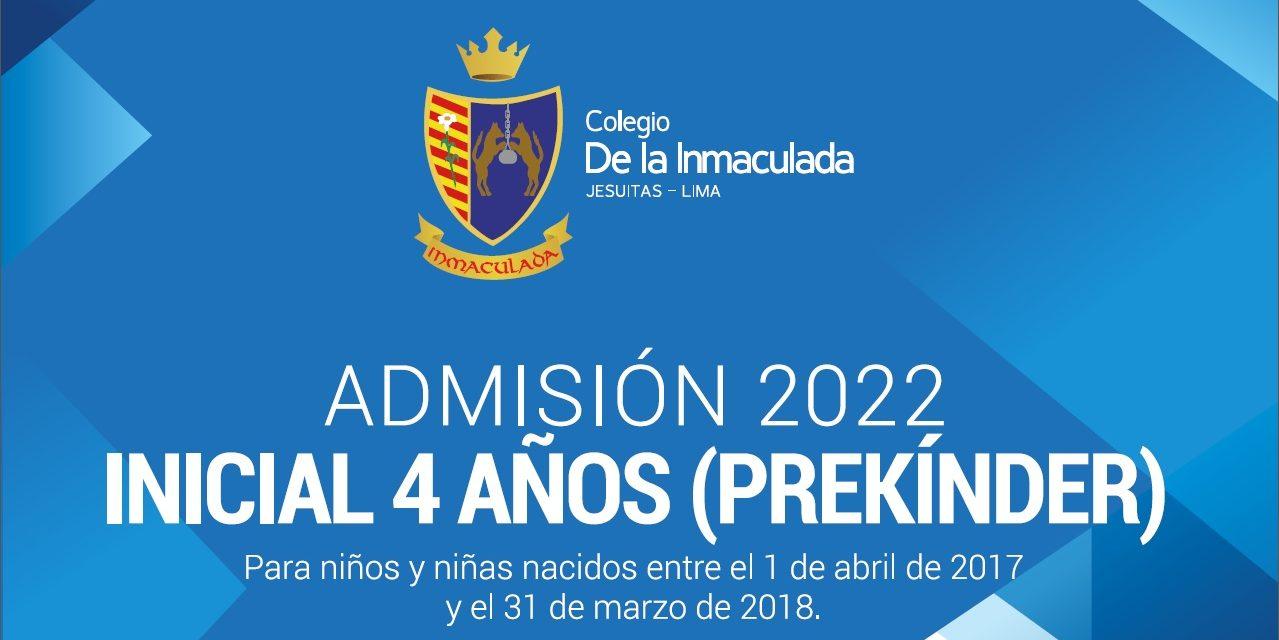 Colegio de la Inmaculada abre proceso de admisión Prekínder 2022