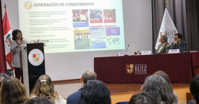 Cátedra Unesco en Políticas Educativas y Agenda 2030 es asignada a la Ruiz de Montoya