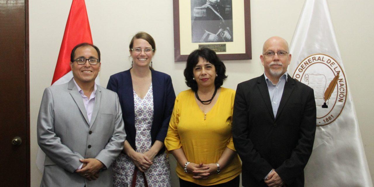 Coordinaciones con el Archivo General de la Nación