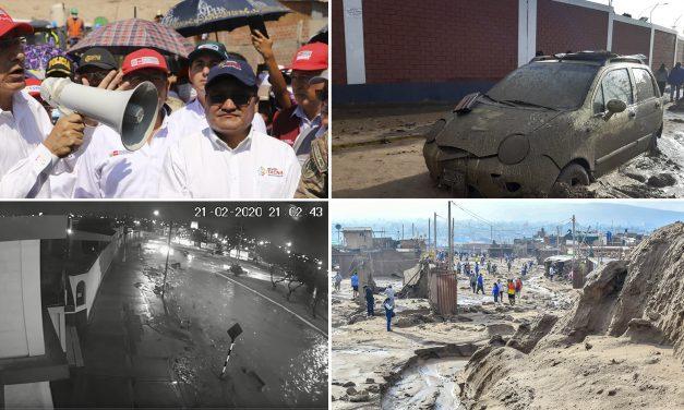 Centro Cristo Rey de Tacna: Presidente Vizcarra inspeccionó zona afectada por huayco