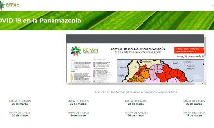 La REPAM elabora el mapa del coronavirus en la Pan Amazonía