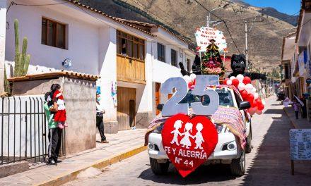 Bodas de Plata del Fe y Alegría N°44 de Andahuaylillas (Cusco)