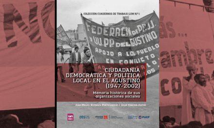 Nueva publicación recoge memoria histórica de organizaciones sociales en El Agustino