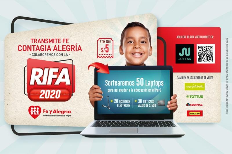 Fe y Alegría del Perú lanza campaña de Rifa 2020
