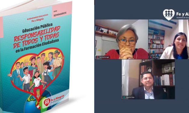 Nuevo libro de Fe y Alegría sobre formación ciudadana