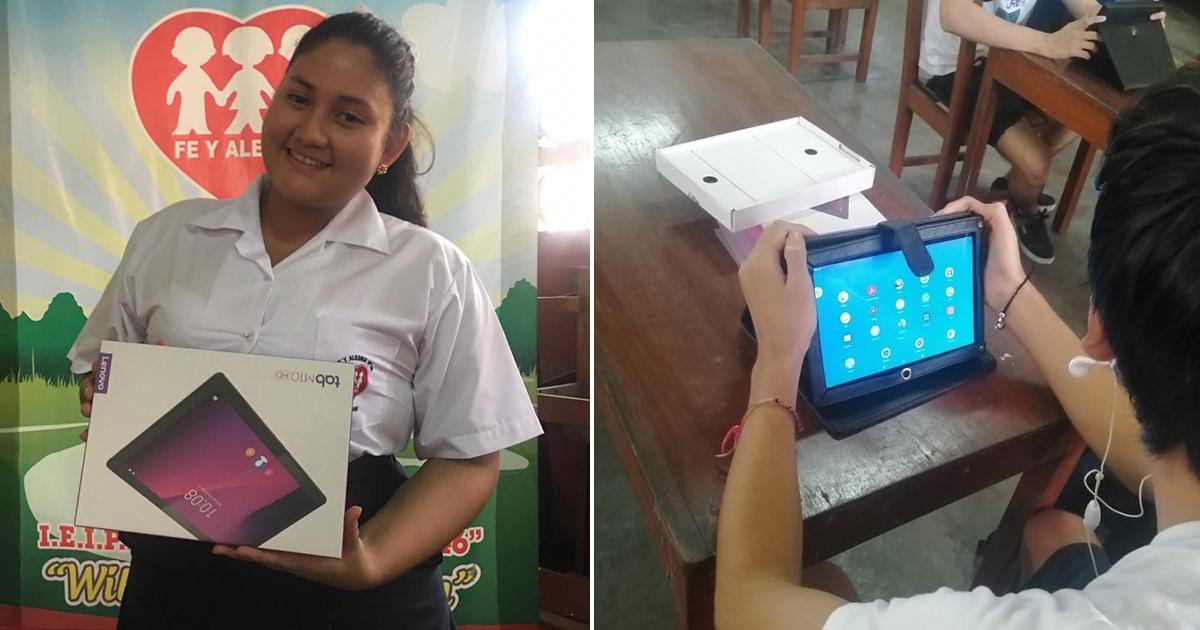 Fe y Alegría entrega tablets a estudiantes de 5to de secundaria