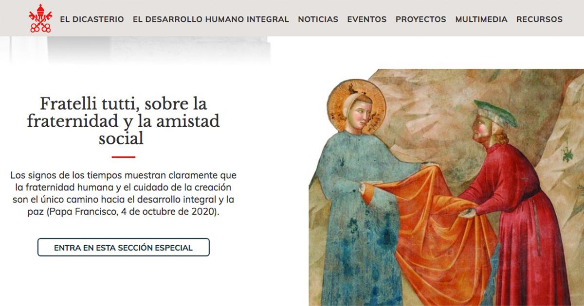 """Nueva web de la Encíclica """"Fratelli Tutti"""""""