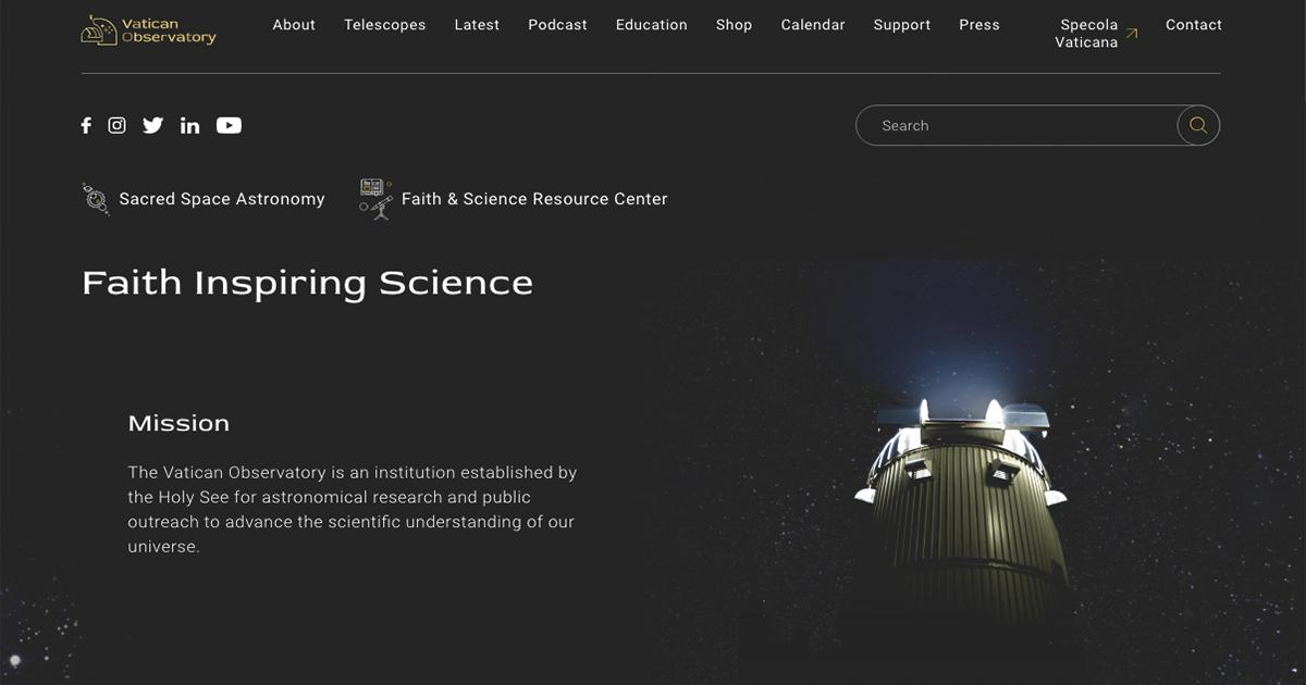 El Observatorio Vaticano lanza un nuevo sitio web