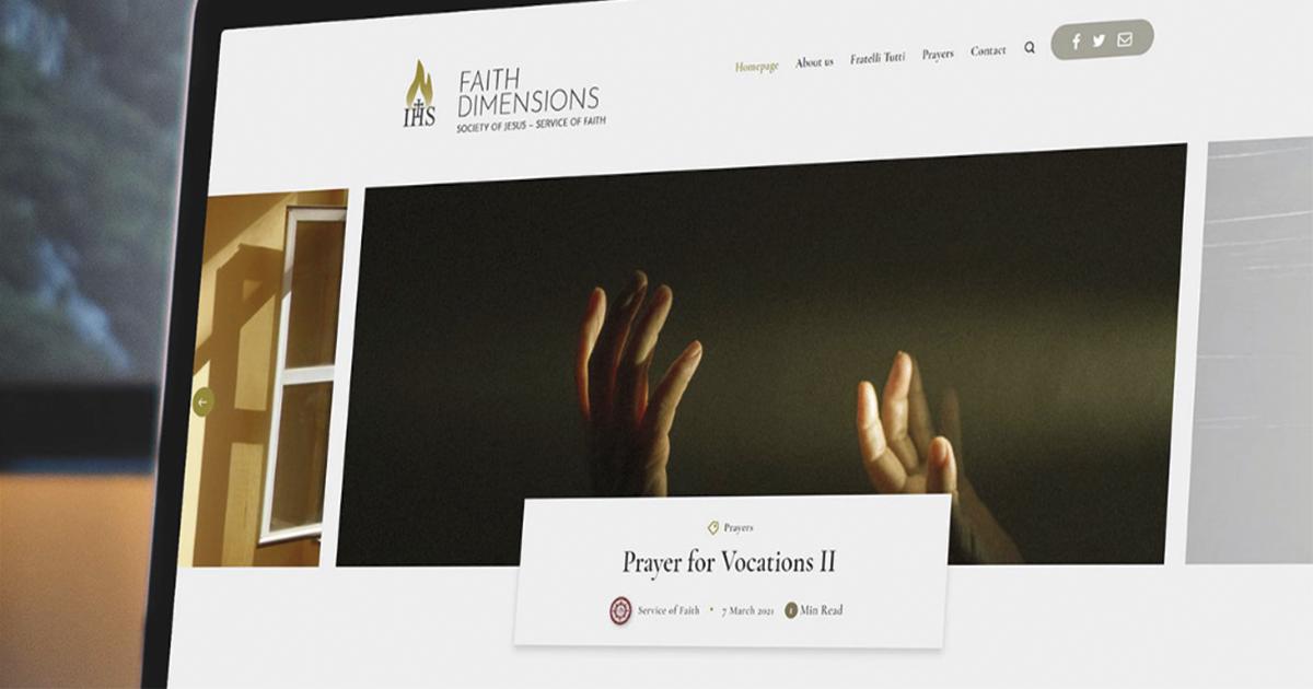Los jesuitas lanzan un nuevo espacio online para el intercambio y el diálogo