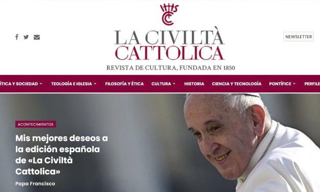 Nueva web de la civiltÀ Cattolica en español
