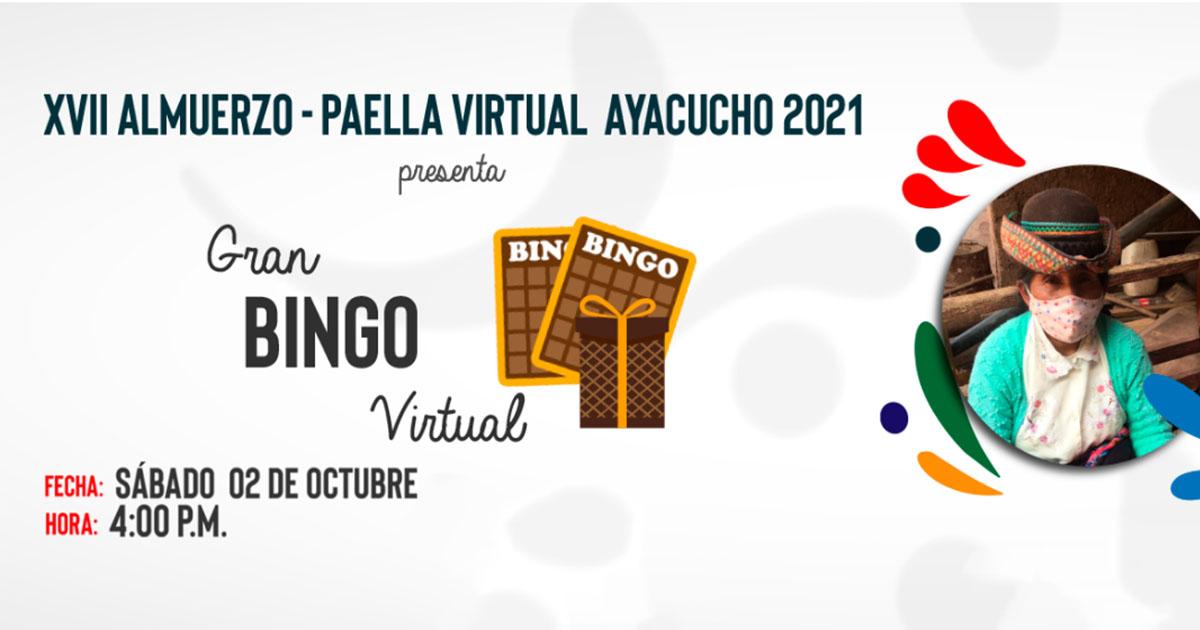 Gran bingo virtual en solidaridad con Ayacucho